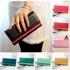 New Card Coin Long Lady Purse Women's Clutch PU Leather Wallet Gift Bag UK