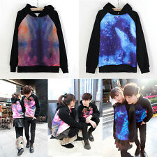 Women Mens Galaxy Comic Stars Astronomy Sweater Tops Couples Shirt Hoodie UK-EB