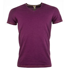 Mens Diesel Michael V-Neck T-Shirt In Purple From Get The Label
