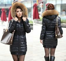 2014 New Womens Ladies Luxury Winter Hooded Down Cotton Jacket Warm Coat Parka