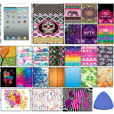 Hard BACK CASE COVER PROTECTOR For Apple iPad 2 3 4, Aztec/ Love/ Slogan + Tool