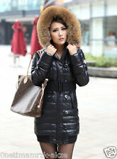 Hot Slim Women Winter Thicken Hooded 90% White Duck Down Jacket Warm Coats Parka