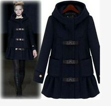 2014 New Design Womens Warm Winter Hooded Parka Trench Coat Jackets Wool Blend