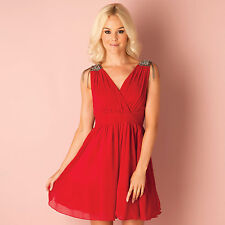 Womens Little Mistress Shoulder Trim Dress In Red A Girls Dress