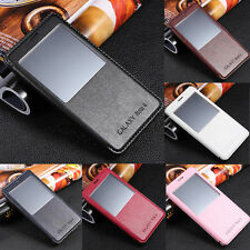 S-View Window PU Leather Flip Stand Cover Case For Samsung Galaxy Note 4/Edge