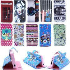For Motorola Moto G ID Wallet Flip PU Leather Cover Case Tower OWL Bicycle Flowe