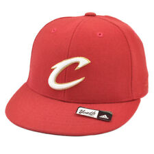 NBA Adidas Cleveland Cavaliers Cavs T552P Youth Flat Bill Fitted Hat Cap