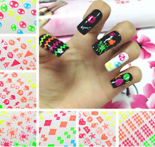 GLITTER 3D Nail Art Tips Stickers Decal Wraps Acrylic Manicure Decorations New