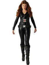 Adult Avengers Black Widow Outfit Fancy Dress Costume Superhero Sexy Womens