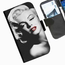 Marilyn Monroe  Leather wallet personalised phone case for Samsung
