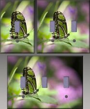 Butterfly On Leaf Wall Decor Light Switch Plate Cover