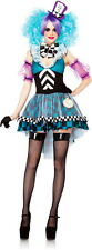 Manic Mad Hatter Dress Alice in Wonderland Halloween Costume Outfit Adult Women