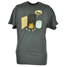Smores Making Tshirt Graphic Chocolate Marshmallow Crackers Novelty Tee