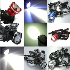 3000Lm XML T6 LED Rechargeable ZOOMABLE Headlamp Headlight Flashlight Head Torch