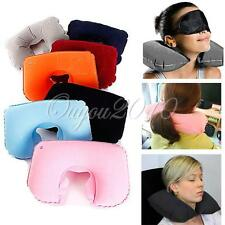 Air Inflatable Travel Neck U Shape Pillow Support Head Rest Air Blow Up Cushion