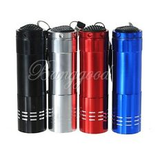 Mini 9 LED Pocket Bright Torch Flashlight Camping Light Lamp AAA Battery