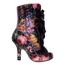 Irregular Choice Lucky Lady Vintage Floral High Heel Dress Boots