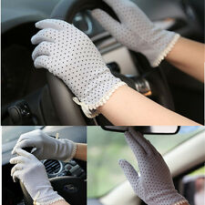 Women Female Cotton Antiskid Lace Bowknot Short Sunscreen Gloves Driving Gloves