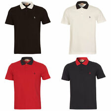 Mens Penguin Daddy Collar Short Sleeve Polo T Shirt In Black /White / Navy / Red