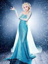 Disney Frozen Elsa Princess Queen ADULT FANCY Sexy dress Costume for Xmas PARTY