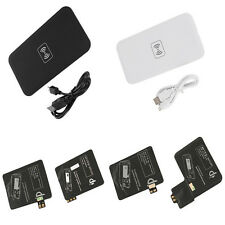 Qi Wireless Charger Pad MAT+Receiver Kit For Samsung Galaxy S5 S4 S3 NOTE 2 3 PS