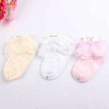 Spring and summer cotton socks lace embroidery princess female baby socks VT0002