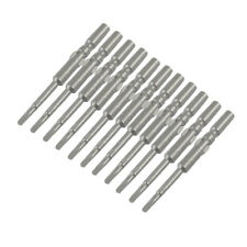 10 Pcs 5mm Round Shank 2mm Wide Head Triangle Bits for Screwdriver