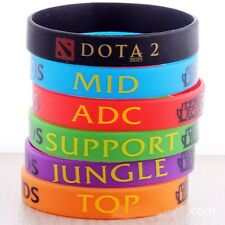 Colorful League of Legends LOL Theme Silicone Wristbands Bracelets Hand Catenary
