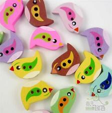 Mixed Colors Birds Wooden Buttons Flatback Craft Embellish Cards Scrapbook DIY