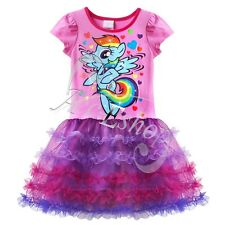 My Little Pony Girls Kids Xmas Costumes Top Dress Party Cake Tutu Skirt Clothing