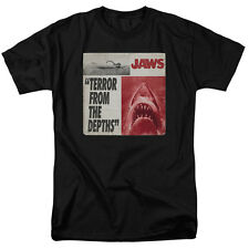 Jaws 1975 Shark Thriller Spielberg Movie Terror From the Depths Adult T-Shirt