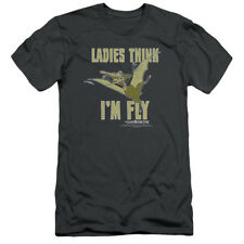 Land Before Time Animated Dinosaur Film Petrie Think I'm Fly Adult Slim T-Shirt