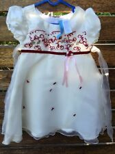 Girls Kids Guess Beige Short Sleeves Summer Embroidery party Wedding dress 3-6yr