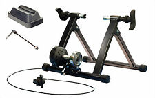 ZERO12 CYCLING MAGNETIC RESISTANCE TURBO TRAINER WITH FREE SKEWER AND CHOCK