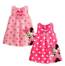 Kids Baby Girls Skirt Dress Cute Minnie Mickey Mouse Toddler Clothes Age 1-5Y