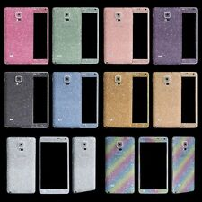 Glitter Sparkling Skin Sticker Screen Protector For Samsung Galaxy Note 3 Note 4