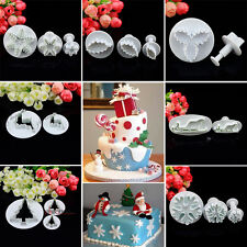 Xmas Snowflake Fondant Cake Decorating Tools Cupcake Icing Cutters Plungers Mold