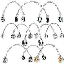 European Saftey chain charms Bead Fit lot sterling silver Charm bracelet Bangle
