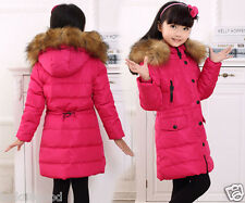 Children's girl down jacket girls thick faux fur collar down jacket girl coat