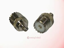 UHF Female SO-239 jack to SMA female jack RF coaxial straight connector adapter