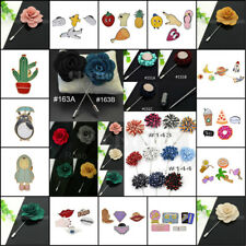 1X Lapel Flower Daisy Handmade Boutonniere Stick Brooch Pin Men's Accessories
