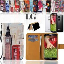 Folio Wallet Card Stand Leather Magnetic Case Cover For Various LG Optimus Phone