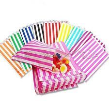 25pcs Retro Stripe Candy Sweet Cake Paper Bags Party Favour Traet Wedding Gift