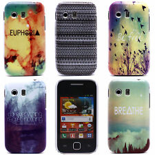 New River Stripe Dot Image Hard Back Shell Case Cover for Samsung Galaxy Y S5360