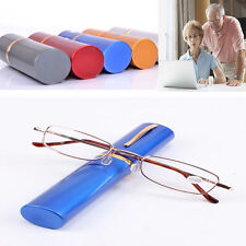 Unisex Metal Reading Glasses With Tube Case +1.5+2.0+2.5+3.0+3.5 4 Colors Man