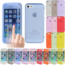 Crystal Clear Flip Slicone Gel Tpu Soft Slim Case Cover For Iphone 4 4s 5 5s