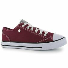 Dunlop Womens Ladies Canvas Low Laced Trainers Sneakers Casual Shoes Chunky Sole