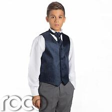 Boys Navy & Grey Suit, Page Boy Suits, Boys Wedding Suits, Boys Waistcoat Suit