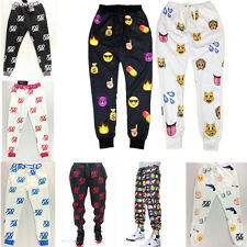 Men Women Funny Print 3D Emoji emoticon smiley Dance sports joggers Pants S-XL