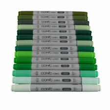 Copic Ciao Twin Tip Marker Pen Green Colours
